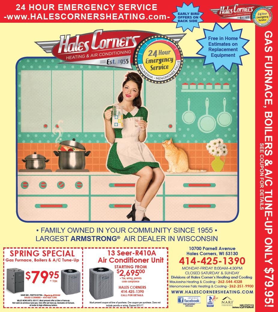 Hales Corners Heating 2017 Specials
