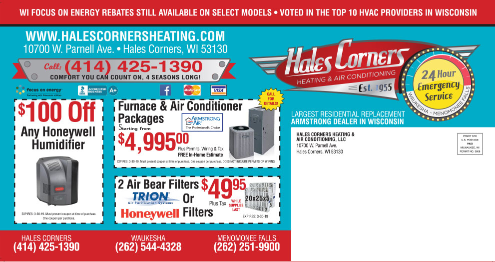 Hales Corners Heating & AC Specials - reverse