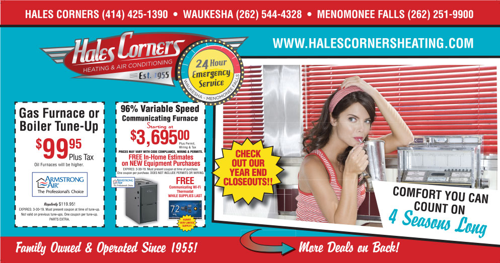 Hales Corners Heating & AC Specials - front